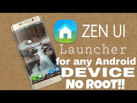 ASUS ZEN UI Launcher for any Android Device NO ROOT!!