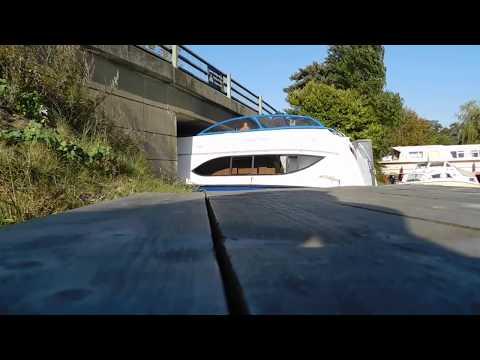 Cruiser Gets Stuck Under Ludham Bridge