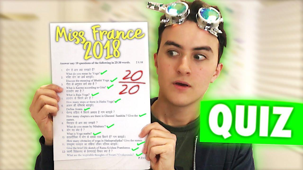 Quiz culture générale miss france 2018