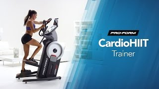 Workout At Home On The ProForm Cardio HIIT Trainer