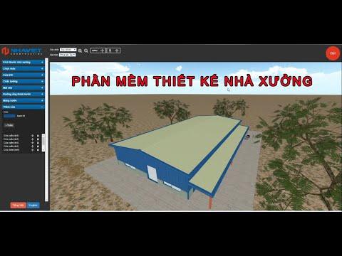 Hướng dẫn sử dụng phần mềm Thiết kế nhà xưởng tự động - Nhà Việt PMC