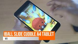 iBall Slide Cuddle A4 3G Tablet - Unboxing - HD IPS screen