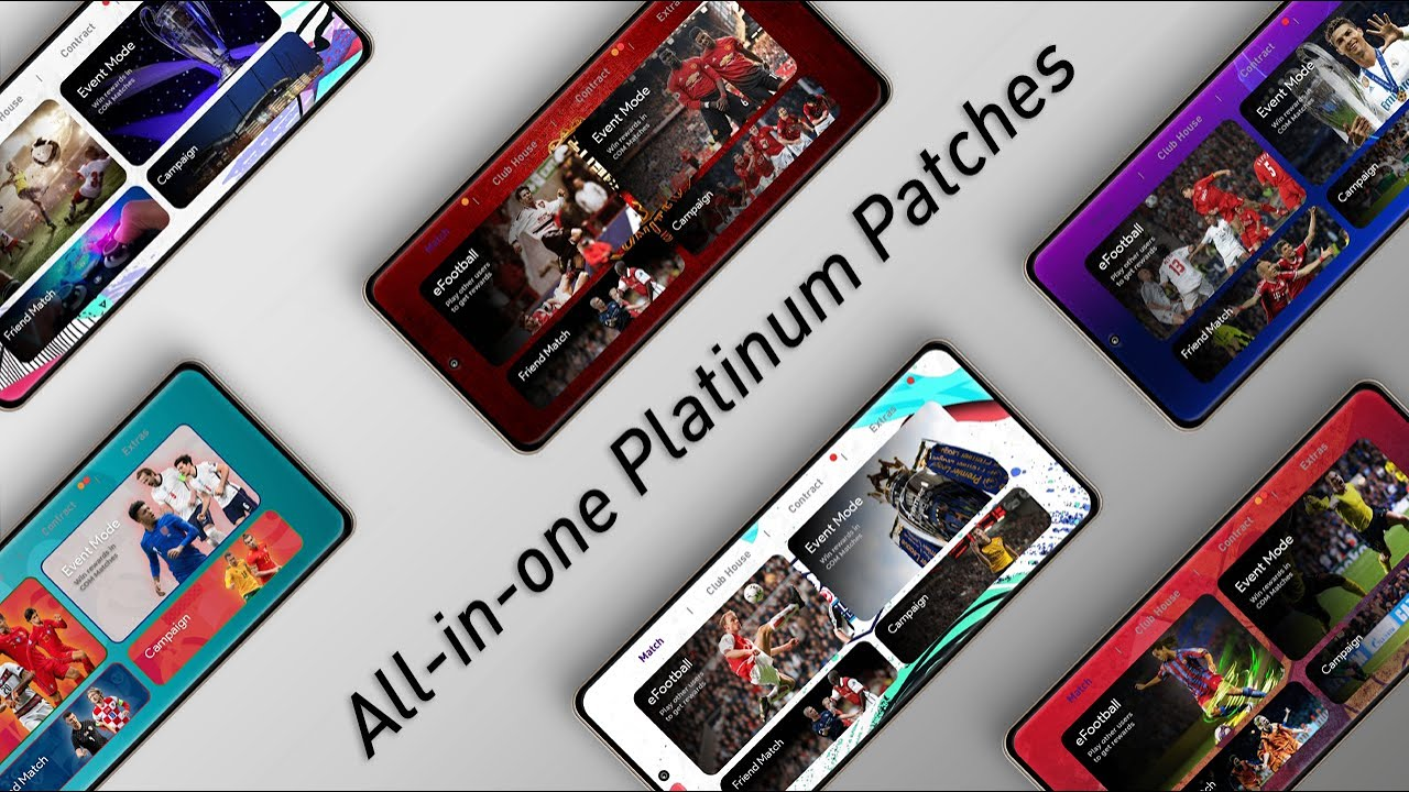 [v5.5.0] All-in-One Platinum OBB Patch Pack | Best Patches for PES Mobile | Exclusive Iconic Teams |