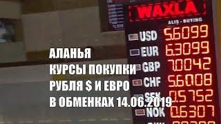 Аланья Курсы в обменных пунктах покупки рубля доллара и евро 14 июня