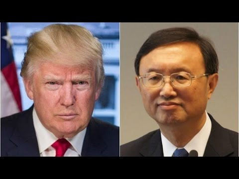 China's State Councilor Yang Jiechi meets with US President Donald Trump