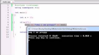 Buckys C++ Programming Tutorials - 16 - if Statement.....again?