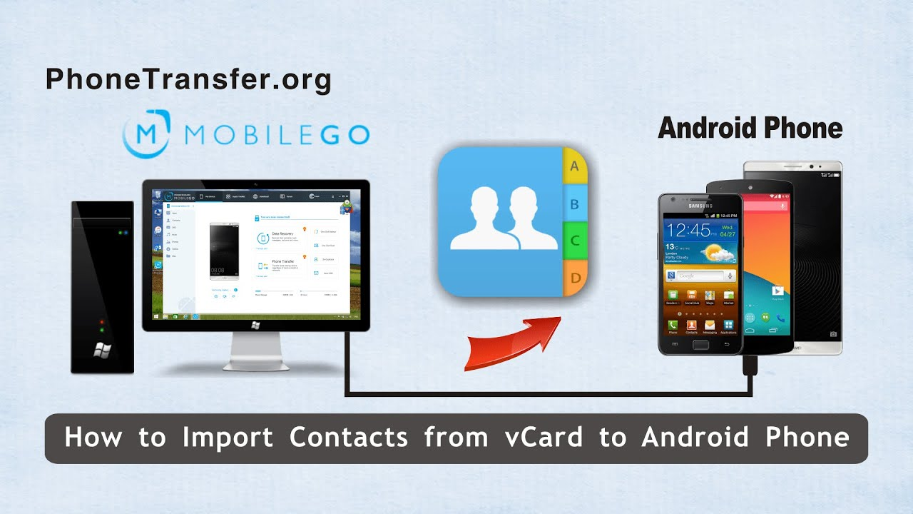 how to send contacts on android