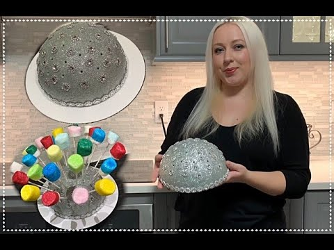 Stand For Marshmallow Pop Cake Pop Decoration Birthday Christmas Valentines Sparkly Party  Tutorial.