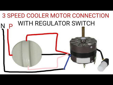 multi speed cooler motor connection