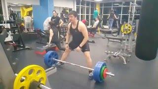 Серёга тянет 170 кг на раз перерыв в тренировках 3 месяца  09 03 2016(, 2016-03-09T16:56:09.000Z)
