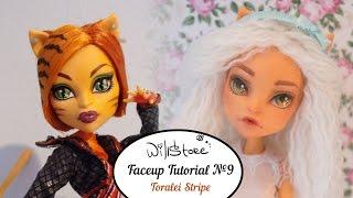 Faceup Tutorial №9 OOAK Toralei Stripe repaint custom doll