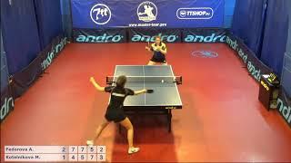 Настольный теннис матч 220918   14  Федорова Арина  Котельникова Мария