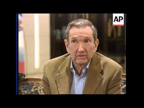 Ramsey Clark says Saddam is in good spritis, they met this week