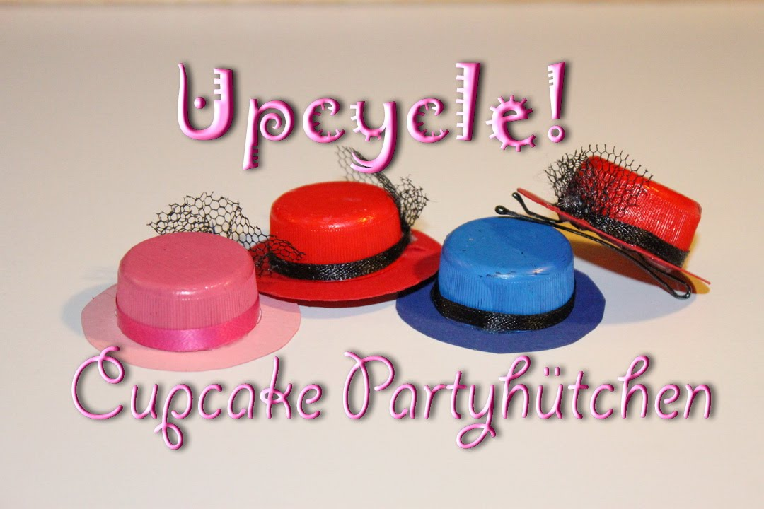 upcycling anleitung diy deko f r cupcakes partyhut selber machen youtube. Black Bedroom Furniture Sets. Home Design Ideas