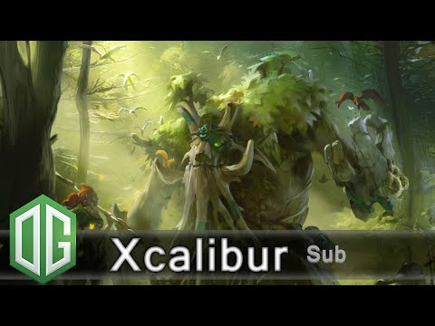OG.Xcalibur Treant Protector Gameplay - Ranked Match - OG Dota 2