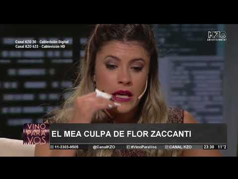"""""""Fui abusada cuando tenía 5 años"""" Flor Zaccanti en Vino Para Vos"""