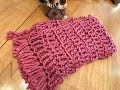 Crochet Scarf - Beginner - Super Fast and Easy!