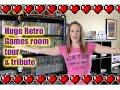 HUGE Retro Gaming Room Tour & Retro Gaming Tribute