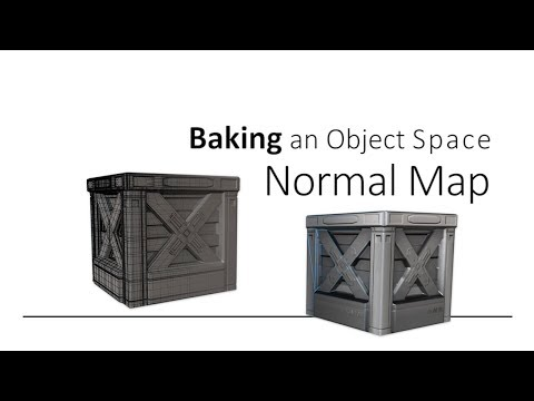 Baking Object Space Normal Map for low poly game asset (Autodesk Maya)