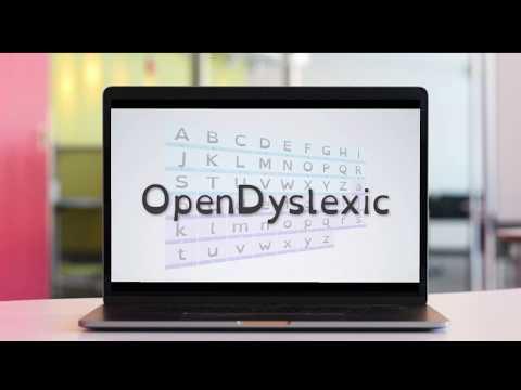 Open Dyslexic leturgerðin í Crome