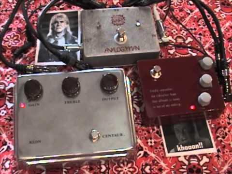 Klon Centaur versus Klon KTR overdrive guitar effects pedal SHOOT OUT