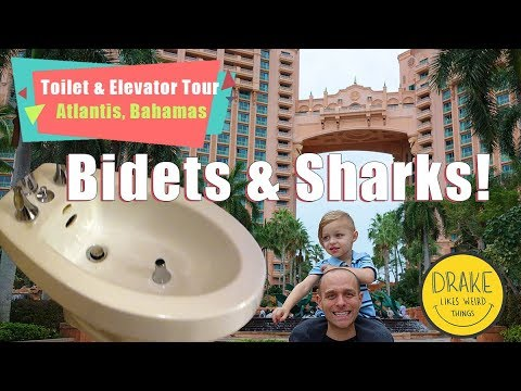 Toilet & Elevator Tour: Atlantis Paradise Island Resort, Bahamas