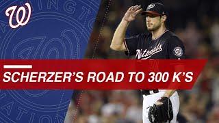 Scherzer's road to 300 strikeouts in 2018