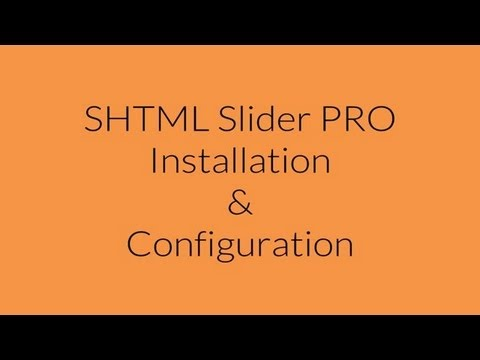 SHTML Slider PRO Installation and Configuration