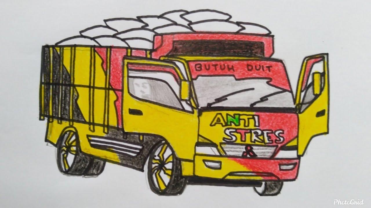 Cara Menggambar Mobil Truck Dengan Mudah Dan Cepat Youtube