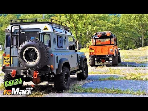 RC Car Xtra Speed D110 & D90 Land Rover Defender Park Trail Ride