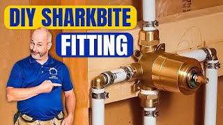 DIY  How To Install Copper To Pex Shower and Bath Plumbing