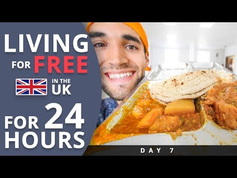 LIVING for FREE for 24 HOURS in THE UK! (Day #7)
