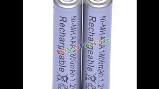 Обзор AAA 1800mAh 1.2 V Ni-MH перезаряжаемая батарея 3A серый