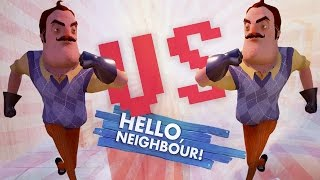 THE BIG RACE! vs KINDLY KEYIN! (Hello Neighbor Alpha 3 / Hello Neighbour Gameplay)