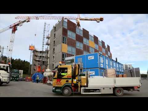Stockholm Royal Seaport Building Logistics Centre (Short version in English with subtitles)