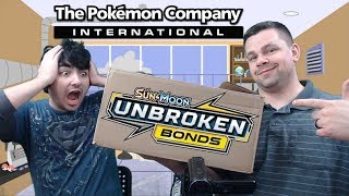 Pokemon Sent Us A HUGE Box of Unbroken Bonds Pokemon Cards!