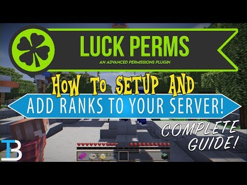 How To Setup LuckPerms On Your Minecraft Server (Add Ranks & Permissions To A Minecraft Server)