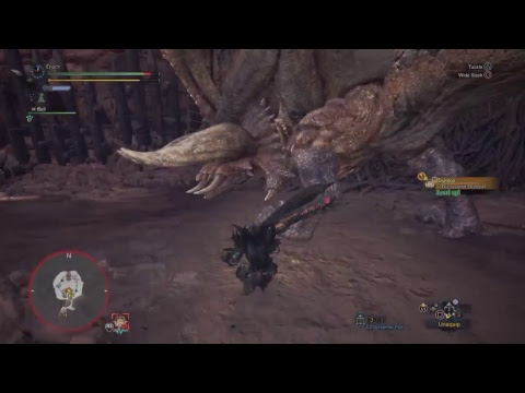 Monster hunter World Great Sword Game play