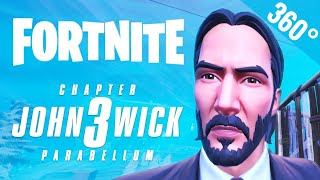[VR Video 360°] FORTNITE John Wick 3 movie skin Keanu Reeves 360 degree