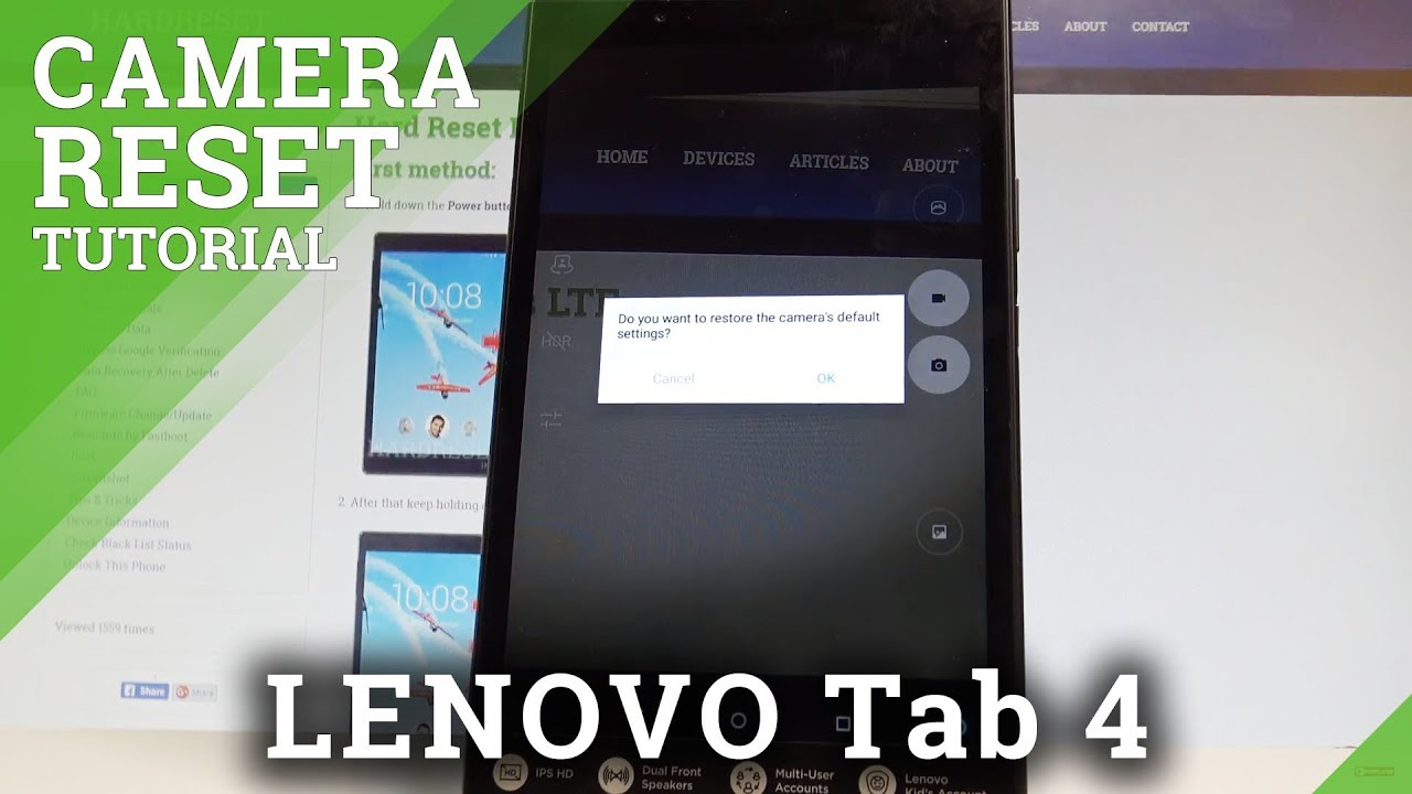 Lenovo Tab 7 Essential Camera Settings Videos - Waoweo