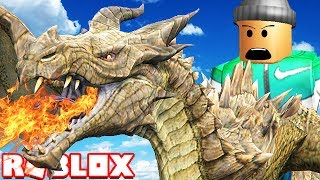 RIDING A DRAGON IN ROBLOX
