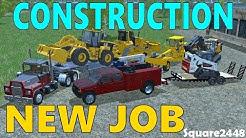Farming Simulator 17 | Hauling Construction Equipment | New Job | Football Stadium