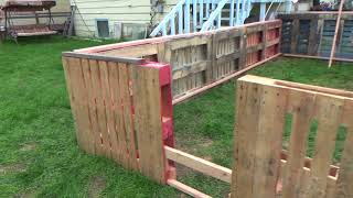 How I built a Pallet Greenhouse with a Rain Gutter Grow System.