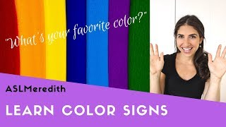 Learn to sign: COLORS in American Sign Language