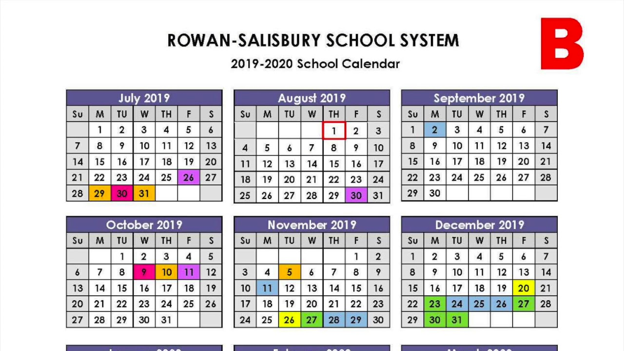Rowan Calendar 2020 Rowan Salisbury Schools Proposed Calendars Video   YouTube