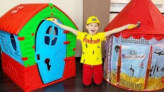Vlad build Playhouse for kids / Stories for kids from Vlad TV Show