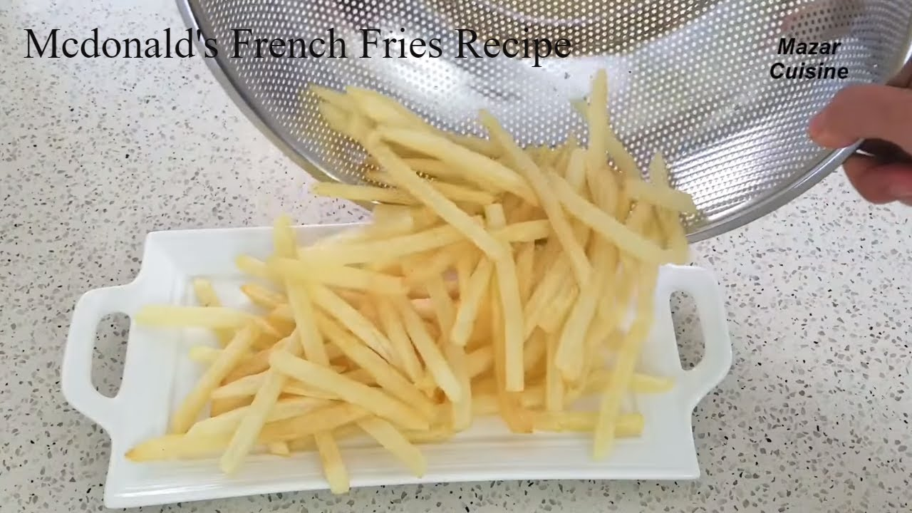French Fries Recipe Mcdonald S Fries At Home Recipe Crispy French Fries چپس سیب زمینی سرخ کرده Youtube