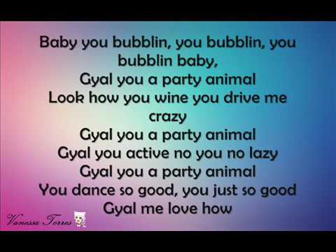 GYAL YOU A PARTY ANIMAL  LETRA♥