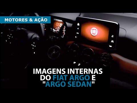 """Imagens internas do Fiat Argo e """"Argo Sedan"""""""