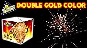 DOUBLE GOLD COLOR BATTERIE | EVOLUTION FIREWORKS | Silvester2k